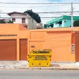 caçambas coleta entulho preço Chácara Recreio Santa Camila