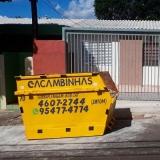 coletar caçamba de entulho Quilombo