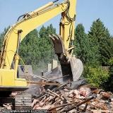 demolição e escavação Bairro da Mina