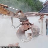 demolição mecanizada contratar São Roque das Chaves