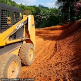 Escavação com maquina Hortensias
