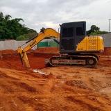 escavação e terraplanagem Conjunto Residencial Pacaembu II