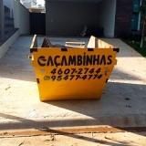 locação caçamba de coleta preço Jardim Dona Donata