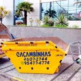 locação de caçamba para retirar entulho preço Jardim Itamarati