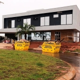 quanto custa locação caçamba retirar entulho Terras de São Carlos