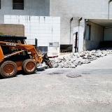 serviço de demolição escavadeira rompedor hidráulico Haras Tebas