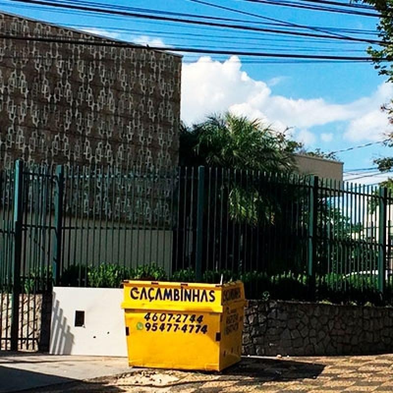 Caçamba de Retirada de Entulho Jardim Caçula - Aluguel de Caçamba