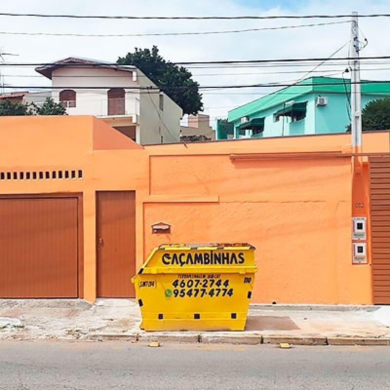 Caçambas Coleta Entulho Preço Chácara Anhandjara - Aluguel de Caçamba