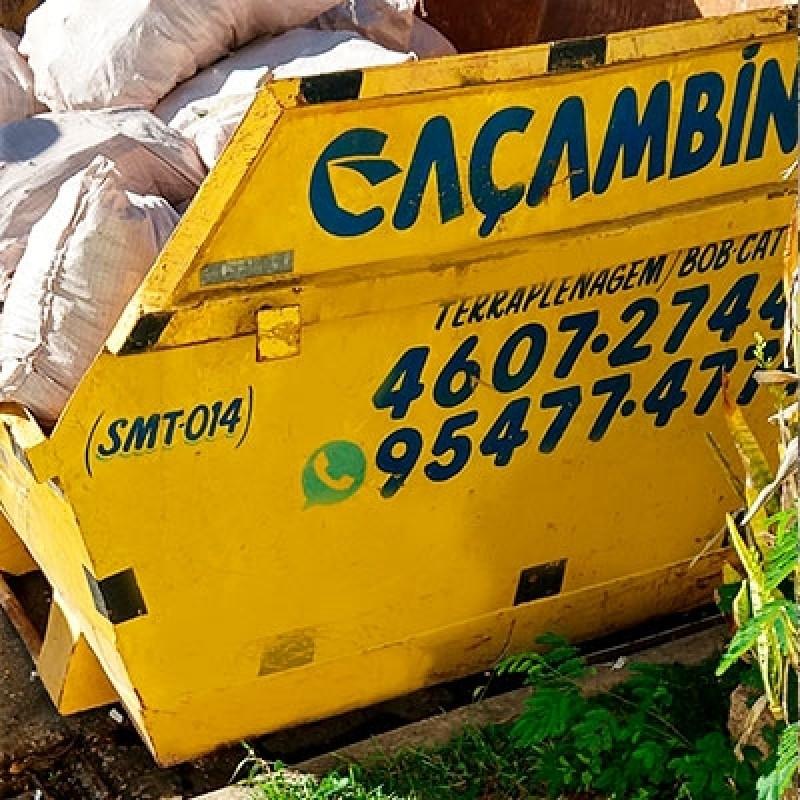 Contratar Serviço de Coleta Entulho Quilombo - Coleta Caçamba de Entulho