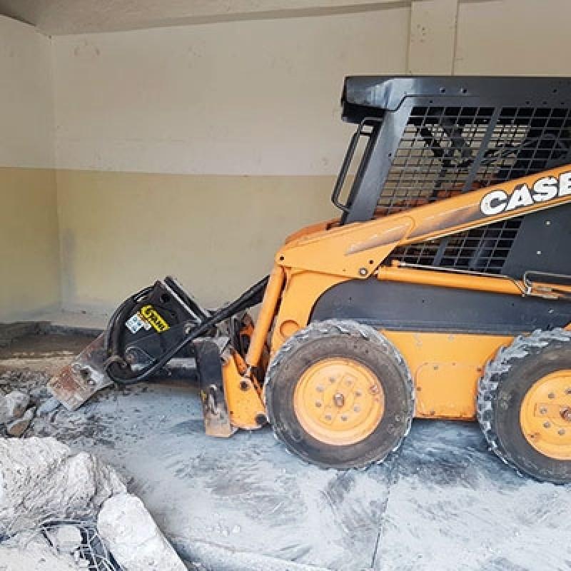 Demolição Mecanizada Marco Leite - Demolição de Concreto com Rompedor Hidráulico