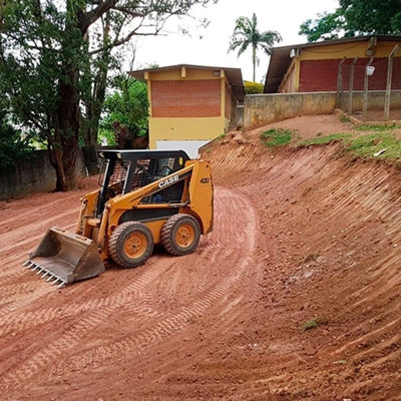 Empresa de Terraplanagem Carregadeira Diária Distrito Industrial - Terraplanagem Mini Carregadeira