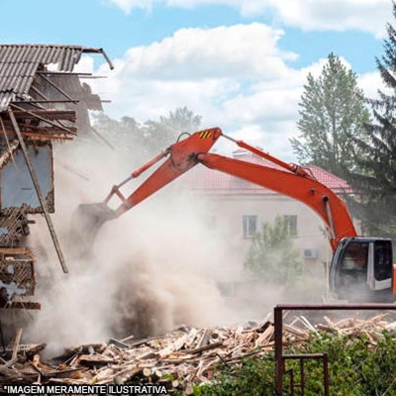 Empresa Que Faz Demolição com Retroescavadeira Jardim Itália - Demolição de Casa