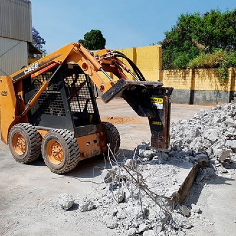 Empresa Que Faz Demolição Escavadeira Rompedor Hidráulico Chácara Portão do Castanho - Demolição de Concreto com Rompedor Hidráulico