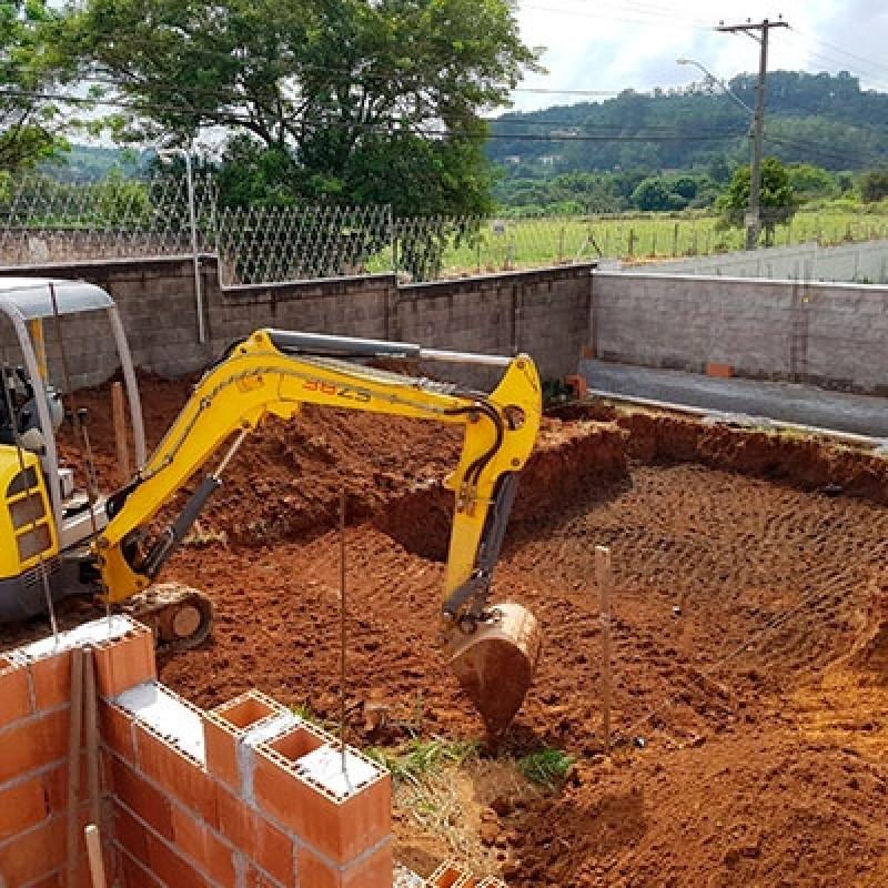 Escavação de Piscina com Escavadeira Contratar Serviço Jardim Arco Íris - Escavação de Piscina