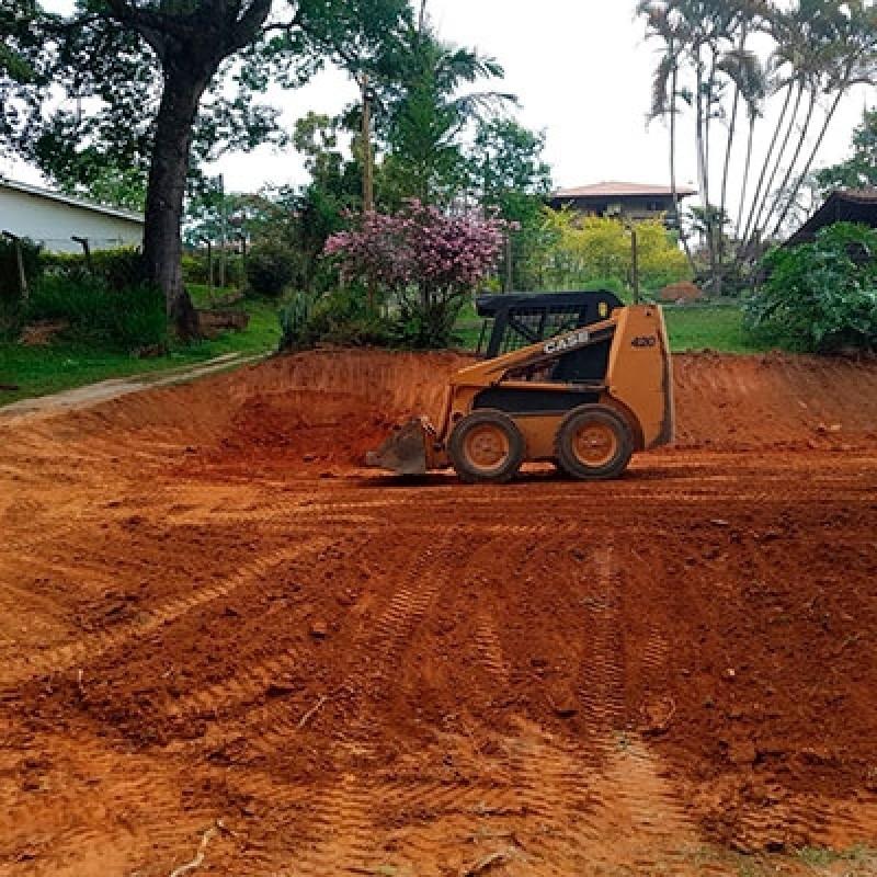 Fazer Terraplanagem Vila Militar - Terraplanagem Mini Carregadeira