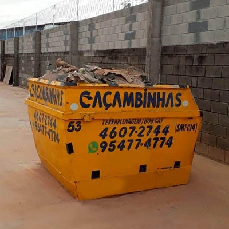 Locação Caçamba de Coleta Vila Hortolândia - Locação Caçamba Retirar Entulho