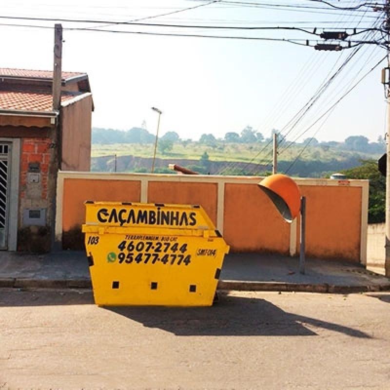 Locação Caçamba para Coleta de Entulho Quanto Custa Chácara Portão do Castanho - Locação de Caçamba para Retirar Entulho