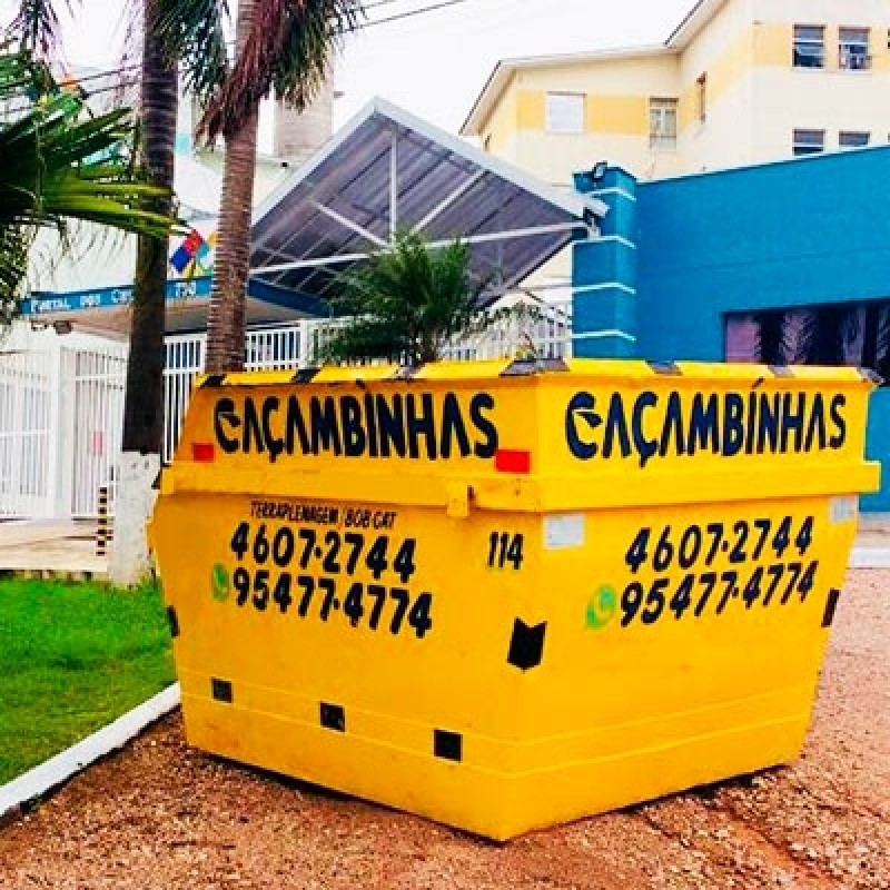 Locação Caçamba Retirar Entulho Jardim Santa Eliza - Locação de Caçamba de Entulho