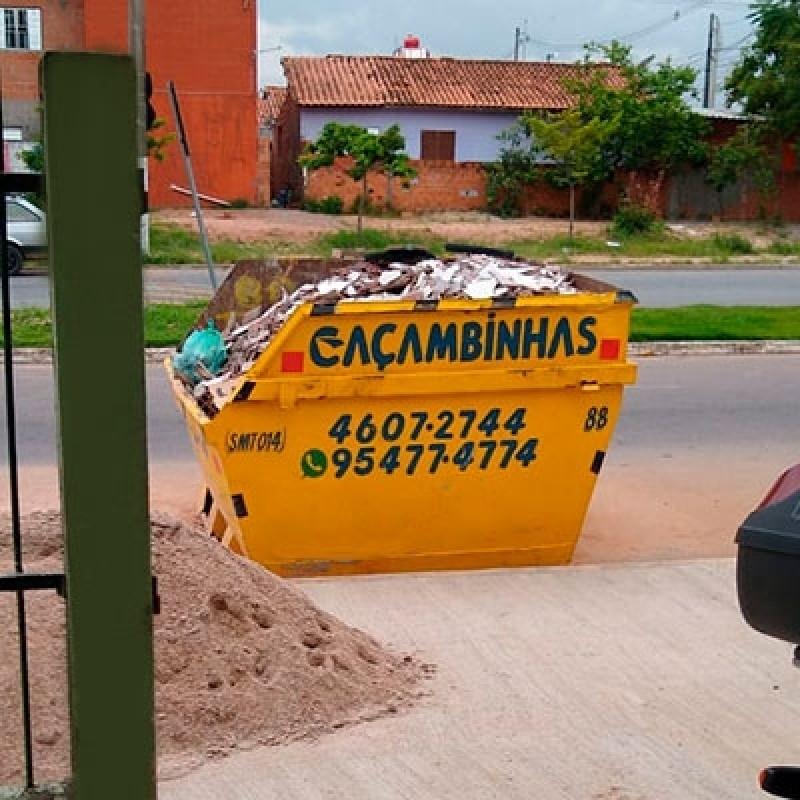 Locação de Caçamba de Entulho Preço São Domingos - Locação de Caçamba para Retirar Entulho
