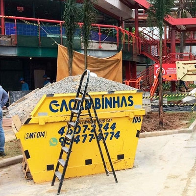 Locação de Caçamba Entulho Preço Horto Santo Antonio - Locação de Caçambas