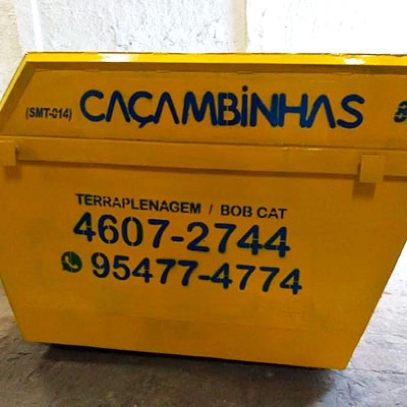 Locação de Caçamba Orçamento Vila Rami - Locação de Caçamba para Retirar Entulho