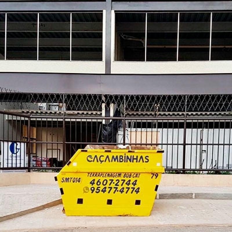 Locação de Caçamba para Entulho Preço Condomínio New Park Tênis - Locação de Caçambas