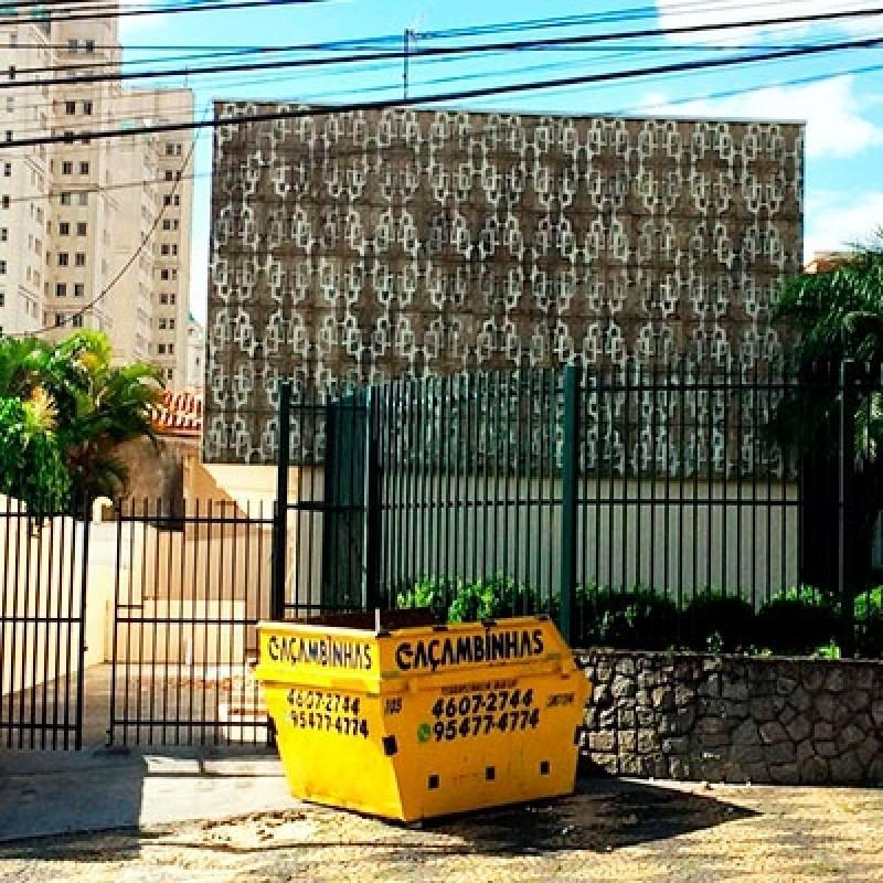 Locação de Caçamba para Entulho Parque Residencial Nove de Julho - Locação de Caçamba para Entulho