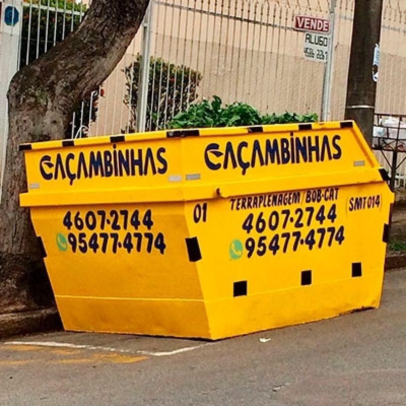 Quanto Custa Locação de Caçamba de Entulho Parque Amarylis - Locação de Caçamba para Entulho