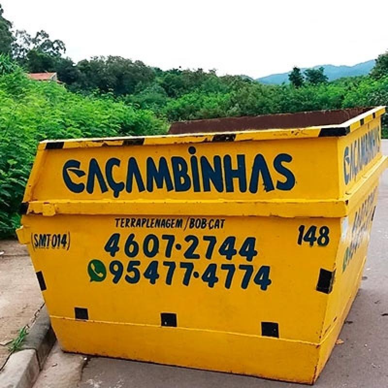 Quanto Custa Locação de Caçamba para Entulho Loteamento Rio das Pedras - Locação de Caçamba Entulho
