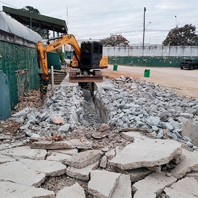 Serviço de Demolição com Maquinas Gramadão - Demolição e Terraplanagem