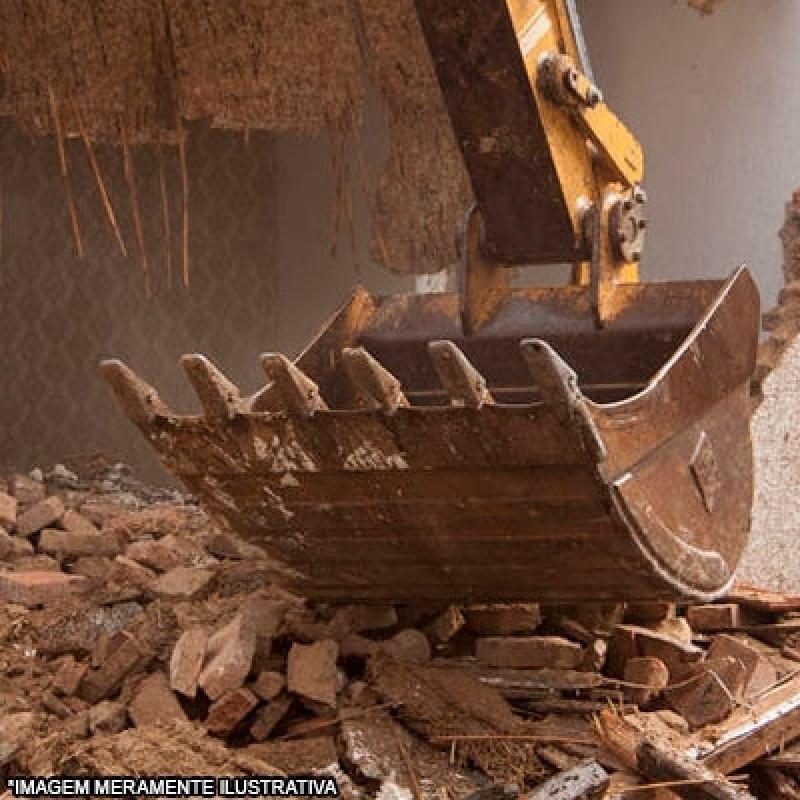 Serviço de Demolição com Retroescavadeira Vila Hortolândia - Demolição Industrial