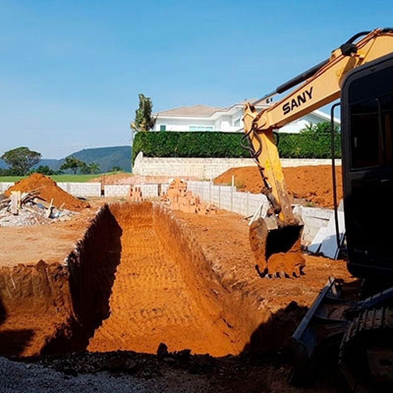 Serviço de Escavação com Maquina Jardim Dona Donata - Escavação de Vala
