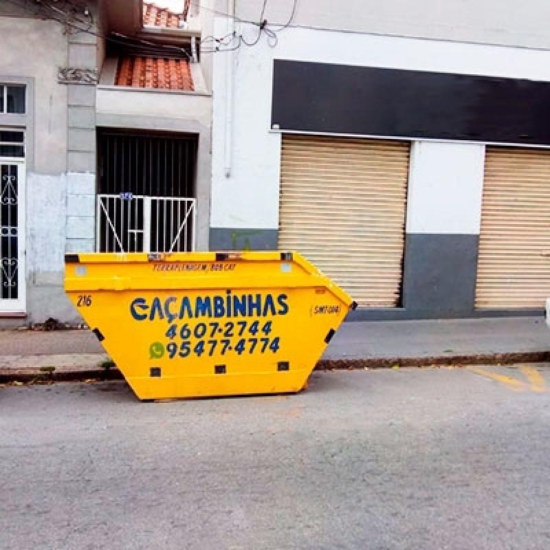 Serviço de Locação Caçamba de Retirada de Entulho Cidade Santos Dumont - Locação de Caçambas