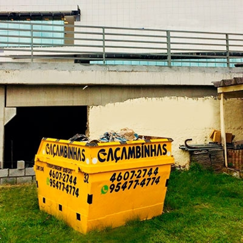 Serviço de Locação Caçamba Retirar Entulho Chácara Pai Jacó - Locação de Caçamba de Entulho