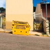 caçamba para retirar entulho Ponte São João