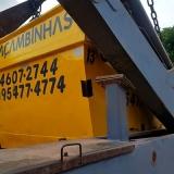 coletar caçamba de retirada de entulho Minas de Inhandjara