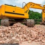 demolição e escavação