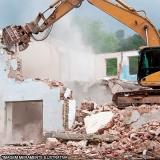empresa que faz demolição mecanizada Horto Santo Antonio