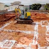 Escavação de baldrame Fazenda Bomfim