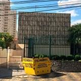 locação caçamba de retirada de entulho preço Loteamento Parque Hortências