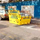 locação caçamba para coleta de entulho preço Chácara Bom Jardim