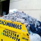 quanto custa locação caçamba de retirada de entulho Chácara das Videiras