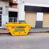 serviço de locação caçamba de retirada de entulho Corrupira