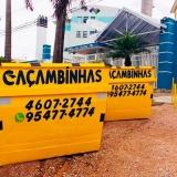 serviço de locação de caçamba de entulho Chácara São Felipe