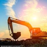 terraplenagem e escavação contratar serviço Loteamento Parque Hortências